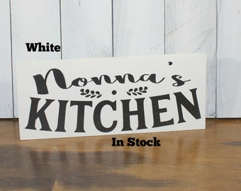 Nonna's Kitchen Sign/Great Christmas Gift/ Sign/Kitchen Sign/Wood Sign/Kitchen Decor/Personalized Options