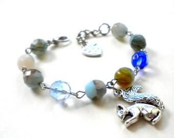 Squirrel Bracelet Gift For Children Turquoise Bracelet Kid Bracelet Birthday Gift For Girl Children Animal Bracelet Animal Jewelry For Kids