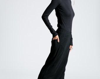 Harem Pants / Low Crotch Pants / Extra Long Trousers / Winter Pants / Fleece Pants / Yoga Pants / Marcellamoda - MP0777