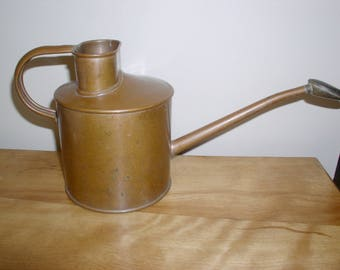 Vintage Copper Watering Can Made in England Brass Sprinkler Attachment Very Nice For House Plants