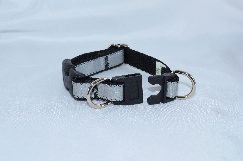 Sale Reflective Breakaway Dog Collar Black Small Dog