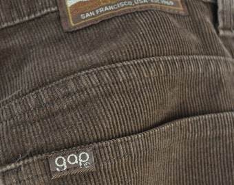 Vintage brown gap corduroys 1970s-1980s