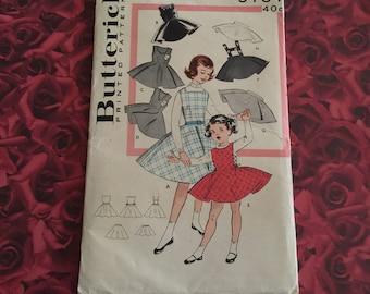 50's Vintage Girls Butterick Pattern
