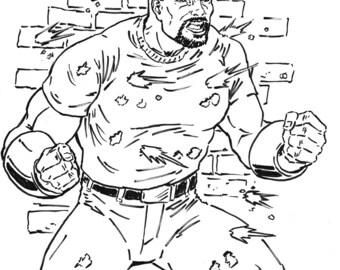 Luke Cage Ink Illustration