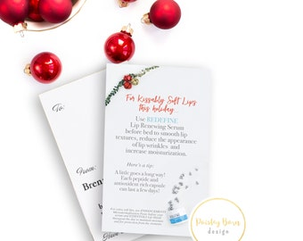 Kissably Soft Lips Gift Tags with Directions