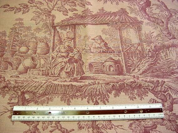 Documental Toile Decorator Fabric Bassett McNab Co