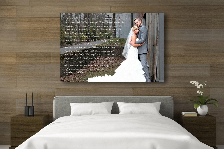Wedding Vows Gift: 1st Anniversary Gift Wedding Vow Art Wedding Vows Framed