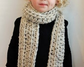 Chunky Toddler Scarf- Oversized Toddler Scarf, Long Toddler scarf, oversized scarf, crochet scarf, chunky scarf, child scarf, child wrap