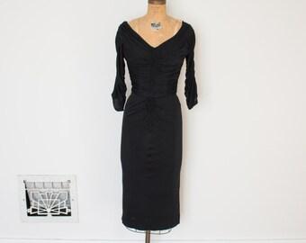 Vintage 1950s Ceil Chapman Dress - 50s Wiggle Dress - The Estelle