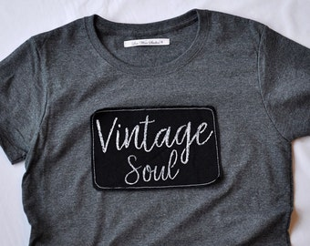 Vintage Soul women's heather grey t-shirt