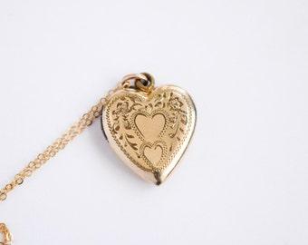 Vintage Heart Locket c.1940s