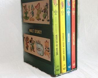 Vintage Disney Book Set The Wonderful Worlds of Walt Disney 4 Books