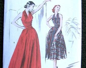Vintage Retro 1952 Halter Dress Pattern