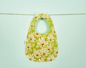 Flower Print Baby Bib - Owlette Birdie Bib
