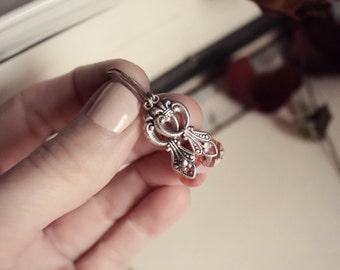 Silver & Swarovski Victorian Earrings - Rose Peach - Romantic - Fantasy Winter Wedding - Bridal - December - Christmas