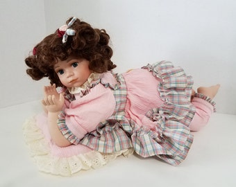 LAST CHANCE - Vintage Doll with pillow