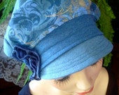 Womens hats denim blue newsboy hat slouchy hat peak cap chemo headcover soft hat