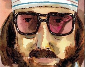 Richie Tenenbaum - Watercolor - Wes Anderson