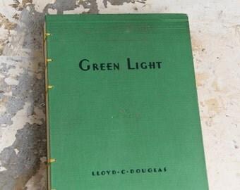 1936 GREEN LIGHT Vintage Book Journal Notebook