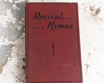 1905 REVIVAL HYMNS Vintage Notebook Journal