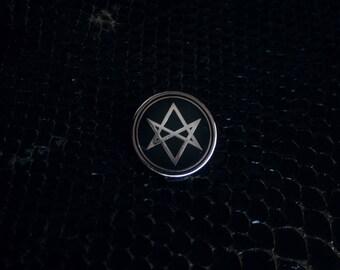 Unicursal Hexagram pin