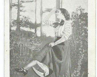 Vintage 1912 Comic Romantic Postcard