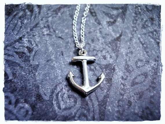 Silver Anchor Necklace - Sterling Silver Anchor Charm on a Delicate Sterling Silver Cable Chain or Charm Only