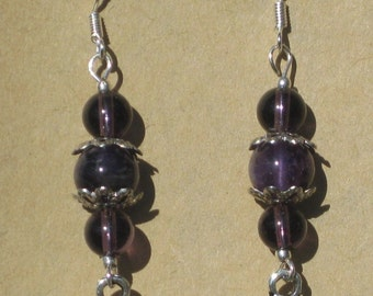 Celtic Knot Earrings with Amethyst Beads