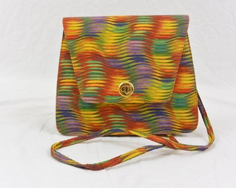 Vintage Rainbow Purse, Quirky, Colorful, Unique, Fun Purse, Artsy Purse, Hipster, Tumblr, Raver, Club Kid