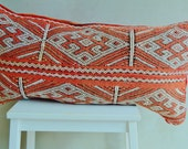 Vintage Moroccan Multi Colour Pattern Kilim Berber Carpet Cushions-lumbar, vintage cushions, gifts for her
