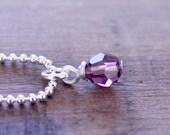 Swarovski Crystal Wrapped Loop Bead, Birthstone Crystal with Silver Findings, Swarovski Birthstone Add On, Swarovski Crystal Charm