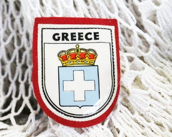 Vintage 1960 Greece Souvenir Travel Patch