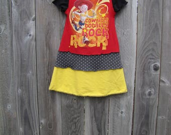 Cowgirls Really Rock Upcycled Dress Size 4/ 5