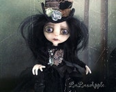 Black Hearted Beatrice dark Valentine Goth Art Doll OOAK LuLusApple