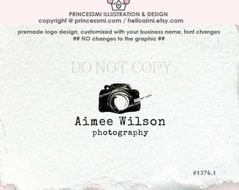 1376-1 watermark,  camera logo design , photography logo, vintage, retro camera, business branding, blogger, photographer logo