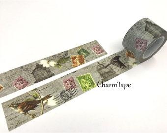 Flowers & Bird Big Washi Tape - 30mm x 10m WT691