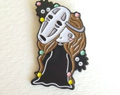 No Face Spirited Away inspired enamel pin, lapel pin, party supplies, party favors, stocking stuffer