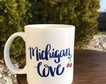 Michigan Love 11 oz Coffee Mug