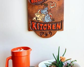Nana & Papa's Kitchen - Handmade - One of a Kind Vintage Wooded Sign