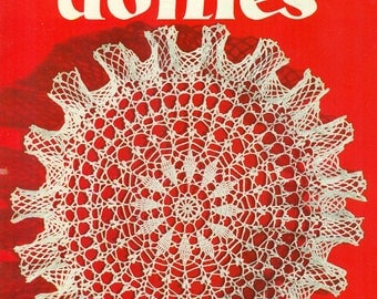 Star Book No. 95 CROCHET RUFFLED DOILIES Tatting Vintage 1950s 1952 American Thread Co.