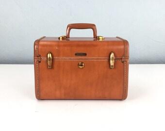 Vintage Samsonite Train Case, Brown Small Suicase, Samsonite Luggage, Cosmetic Case, Antique Case, Vintage Suitcase, Samsonite Suitcase