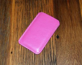Pink Leather iPhone 7 Plus Case, iPhone 6 Plus Leather Sleeve, iPhone Case, Leather iPhone SE Case, iPhone 7 Case