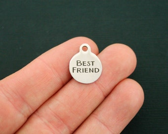 Best Friend Stainless Steel Charms - Smaller Size - Exclusive Line - Quantity Options - BFS1645