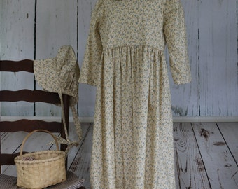 Prairie dress, girls, size 7-8, Lily, ready to ship