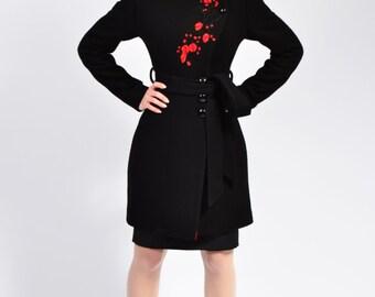 Luca 2 long jacket (black, white, navy, red)