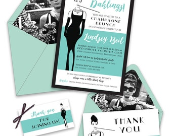 Breakfast At Tiffany's Bridal Shower Invitations