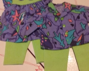 Bitty Baby Twins outfit under the sea print