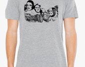 Mount Nasty- Great American women on Mt Rushmore, mens American Apparel athletic gray- S, M, L,XL- WorldWide shipping