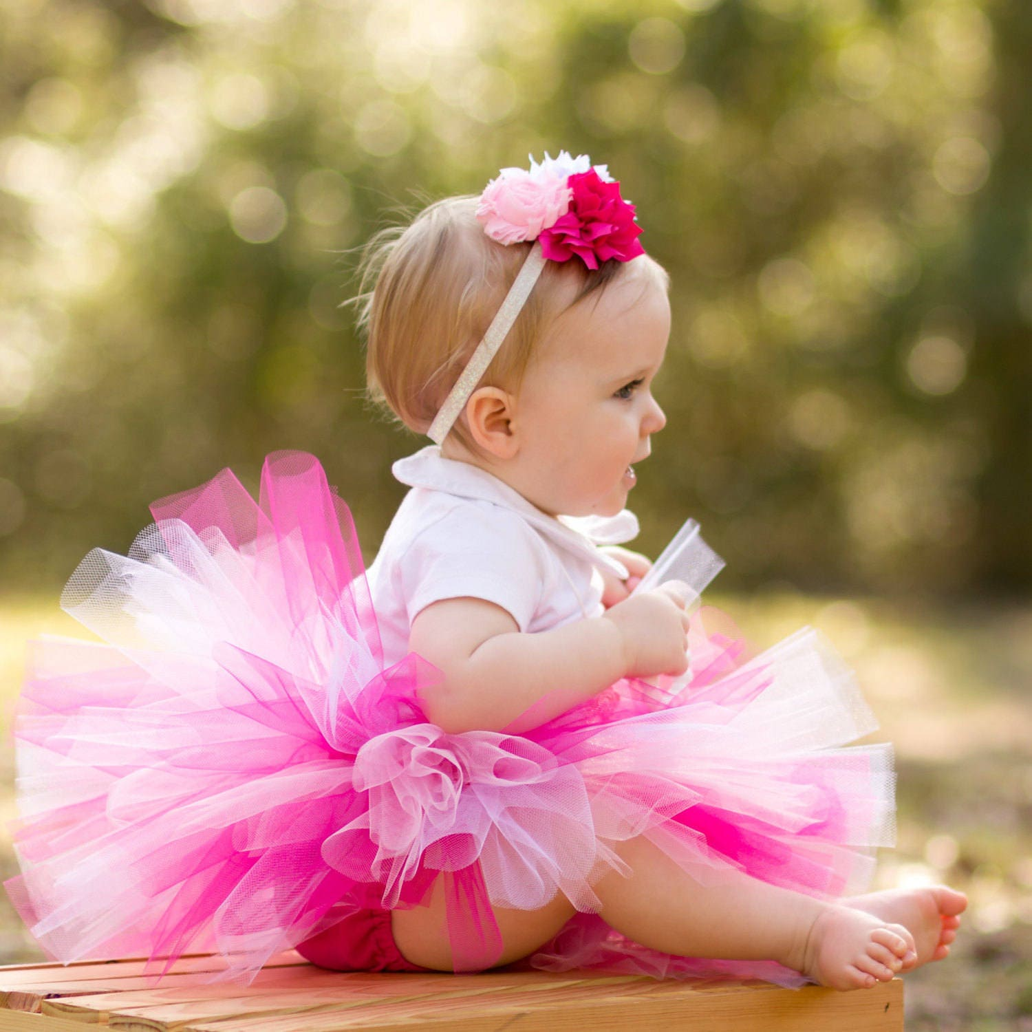 Tutus Tutu: Infant Tutu Pink With Flower Headband Newborn Baby Tutu