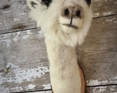 Supercute needle felted Alpaca style faux fauna by feltfactory